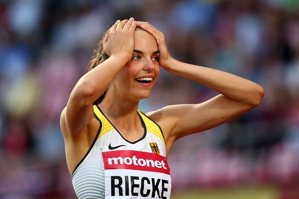 Lea-Jasmin Riecke, the long jump winner at the IAAF World U20 Championships Tampere 2018 (Getty Images)