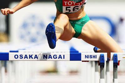Derval O'Rourke of Ireland advances to the 100m Hurdles semi final (Getty Images)