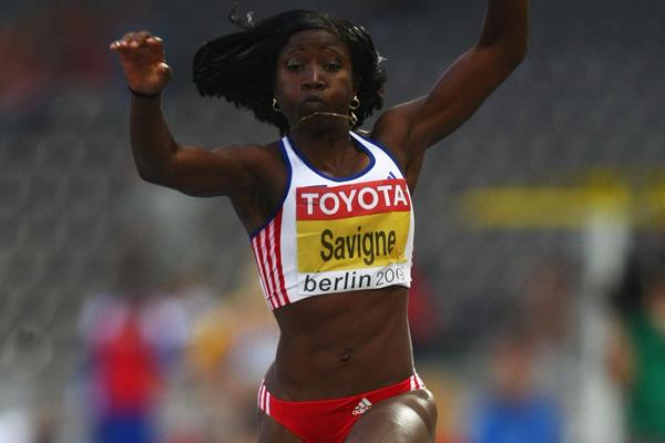 Yargelis Savigne of Cuba competes in the women's Triple Jump final (Getty Images)