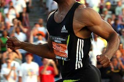 Tyson Gay runs 9.84 at USATF (Getty Images)