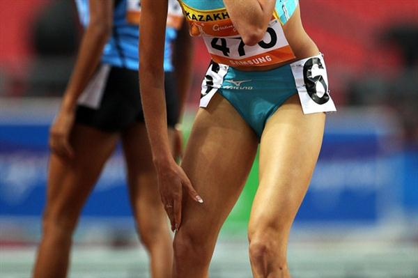 Margarita Matsko of Kazakhstan was also a surprised with her 800m victory in Guangzhou (Getty Images)