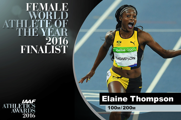 Female World Athlete of the Year Finalist Elaine Thompson ()