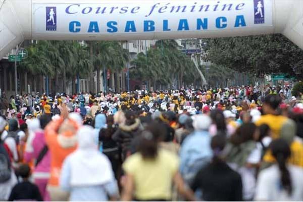 Casablanca Women's Run - 2008 start (Sean Wallace-Jones)