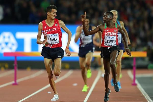 Conseslus Kipruto wins the steeplechase at the IAAF World Championships London 2017 (Getty Images)