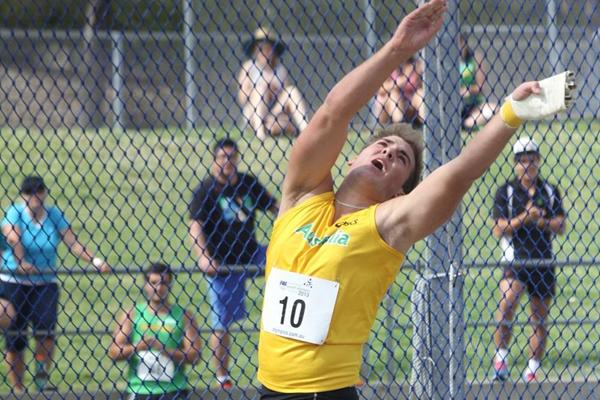 Matthew Denny in action at the 2013 Australian Youth Olympic Festival (David Tarbotton)