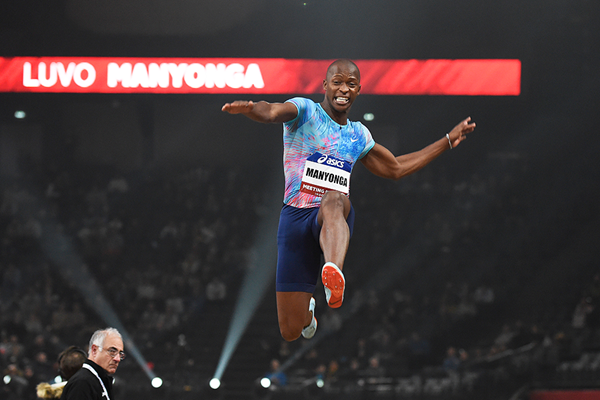 Long jump winner Luvo Manyonga at the Meeting Paris Indoor (KMSP)