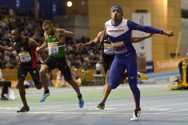 Chijindu Ujah wins the British indoor 60m title (Getty Images)