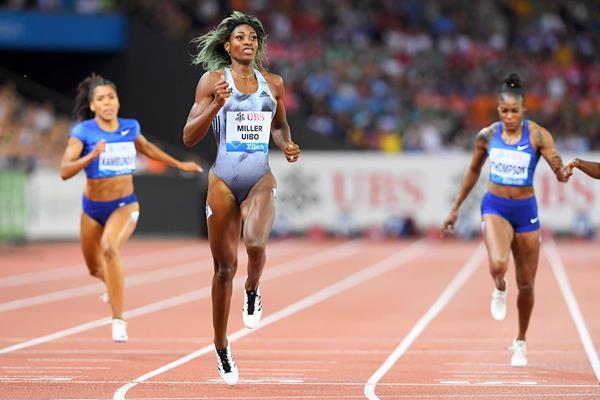 Shaunae Miller-Uibo wins the 200m at the IAAF Diamond League final in Zurich (Jiro Mochizuki)