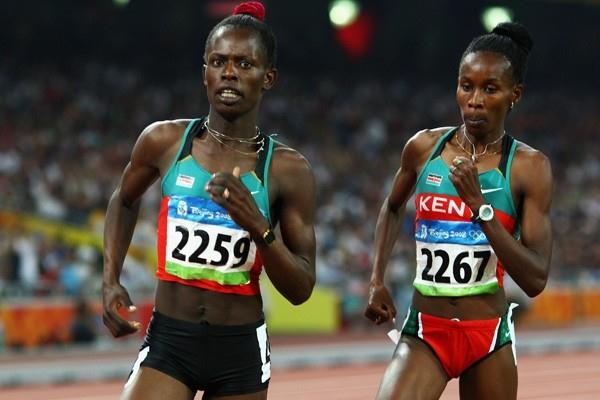 Pamela Jelimo and Janeth Jepkosgei dominate the women's 800m final (Getty Images)