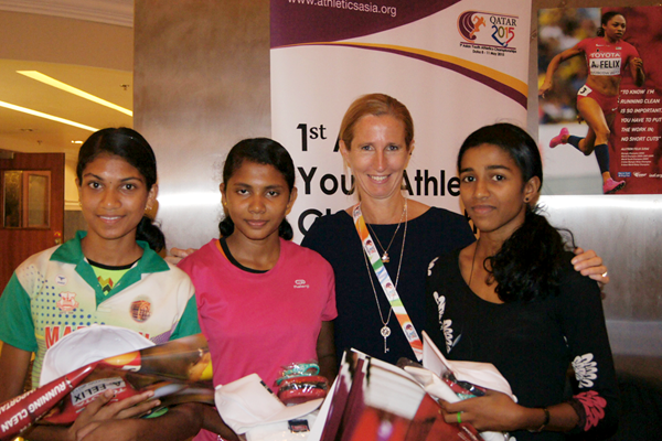 The IAAF anti-doping outreach programme at the Asian Youth Championships in Doha (IAAF)