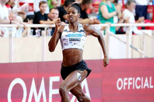 Shaunae Miller-Uibo in action at the IAAF Diamond League meeting in Monaco (AFP / Getty Images)