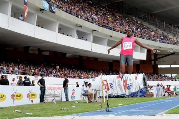 Brittney Reese (USA) flies toi 7.06m PB in Belem (Ismar Ingber/CBAt)