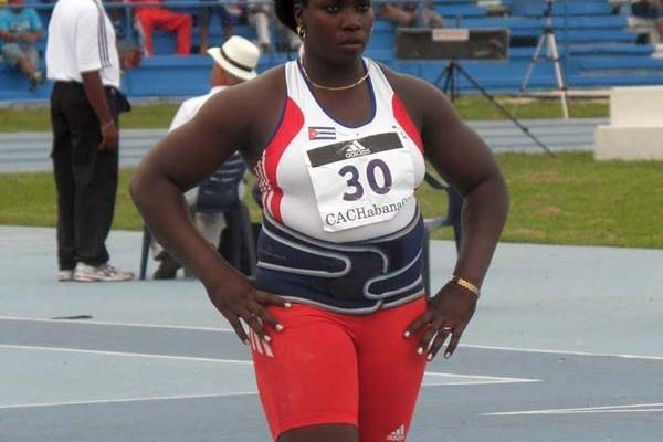 Yarelis Barrios winner of the Discus Throw at the 22nd Central American and Caribbean Athletics Championships at Havana's Estadio Panamericano (Javier Clavelo Robinson)