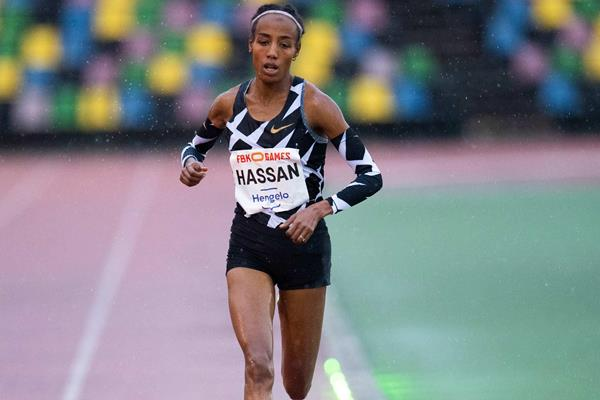 Sifan Hassan racing at the 2020 FBK After Summer Competition in Hengelo (Global Sports Communication)