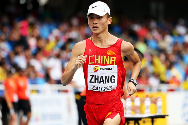 Zhang Jun in the 10,000m race walk at the IAAF World Youth Championships Cali 2015 (Getty Images)