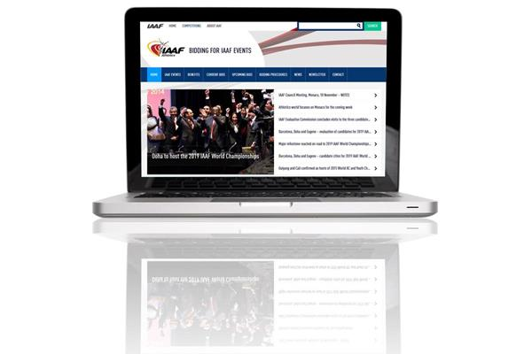 The event bidding section of the IAAF website (IAAF)
