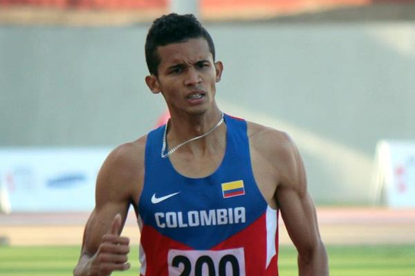 Rafith Rodriguez in action at the 2013 Bolivarian Games (Julio Sandoval)