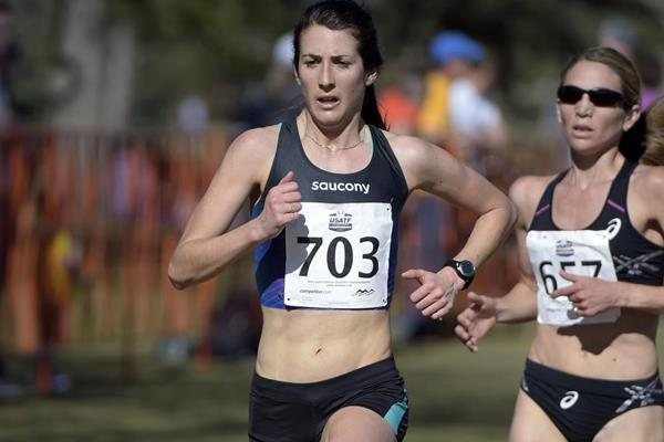 Laura Thweatt at the 2015 USATF Cross Country Championships  (Kirby Lee)