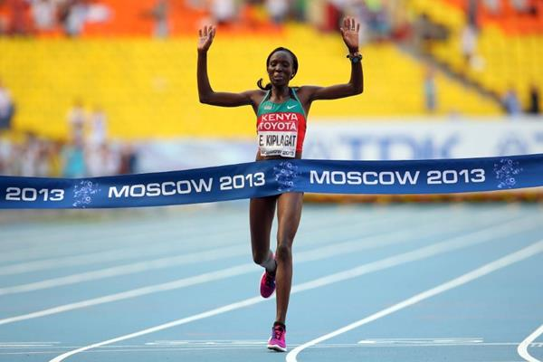 Edna Kiplagat in the women's Marathon at the IAAF World Athletics Championships Moscow 2013 (Getty Images)