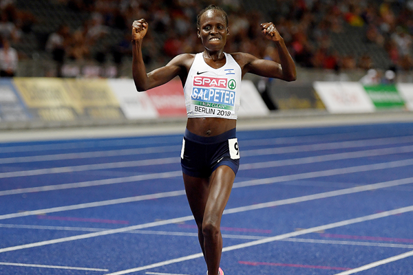 Lonah Chemtai Salpeter wins the 10,000m at the European Championships in Berlin (Getty Images)