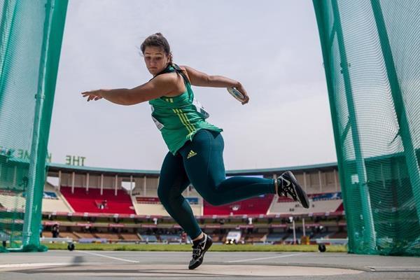 Tharina van der Walt in the discus at the IAAF U18 World Championships Nairobi 2017 (Getty Images)