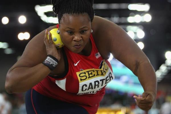 Michelle Carter at the IAAF World Indoor Championships Portland 2016 (Getty Images)