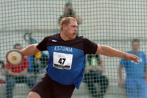 Gerd Kanter of Estonia competing at the European Cup Winter Throwing event in Los Realejos, Spain (Moisés Pérez)
