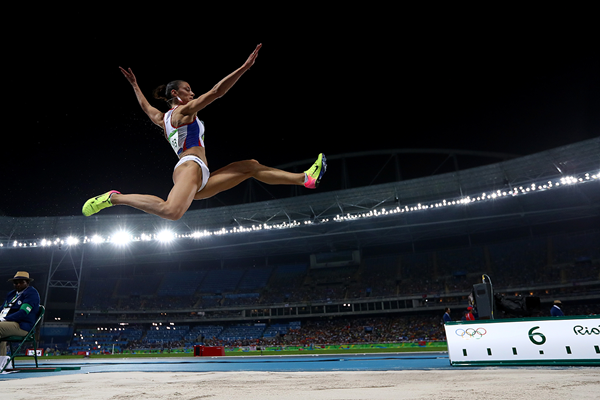 Ivana Spanovic in the long jump at the Rio 2016 Olympic Games (Getty Images)