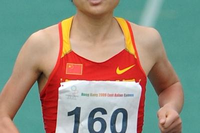Liu Qing running in the 2009 East Asian Games in Hong Kong (AFP / Getty Images)