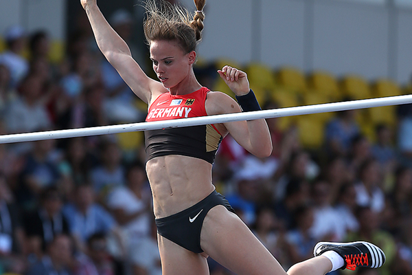 Silke Spiegelburg, winner of the pole vault at the European Team Championships (Giancarlo Colombo)