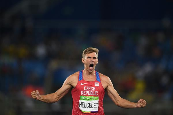 Czech decathlete Adam Sebastian Helcelet at the 2016 Olympic Games (AFP/Getty Images)