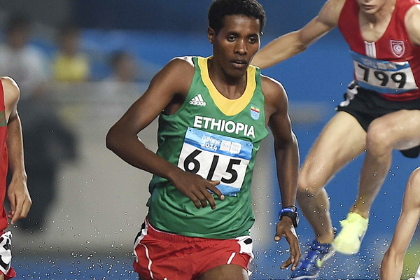 Ethiopian steeplechaser Wogene Sebisibe (Getty Images)