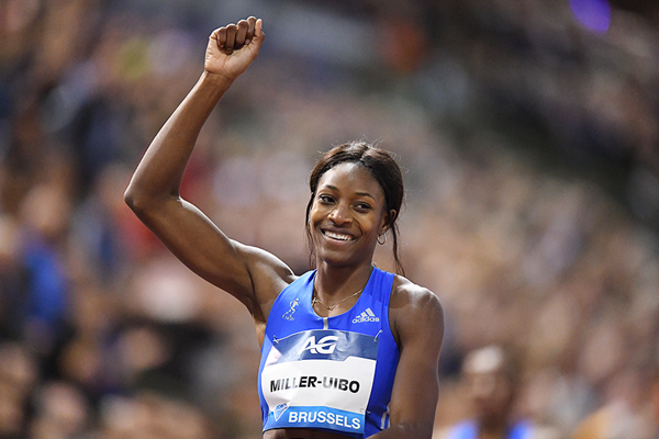 Shaunae Miller-Uibo after winning the 400m at the IAAF Diamond League final in Brussels (Gladys Chai von der Laage)
