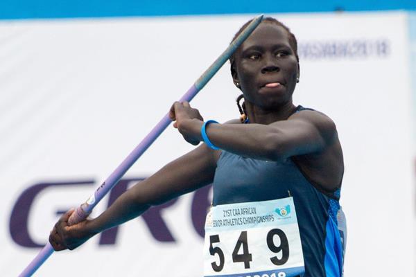 Athlete Refugee Team member Chajen Dang in Asaba (Bob Ramsak)