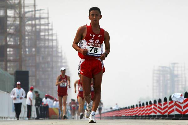 Xing Shucai competing in the Beijing 50km Race Walk (Getty Images)
