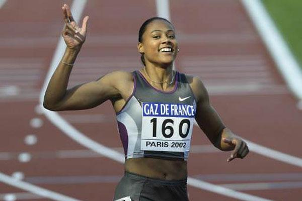 Marion Jones wins in Grand Prix Final (Getty Images Allsport)