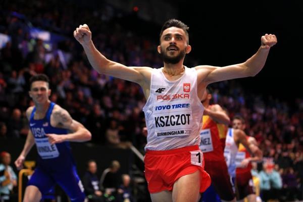 Adam Kszczot wins the 800m at the IAAF World Indoor Championships Birmingham 2018 (Getty Images)