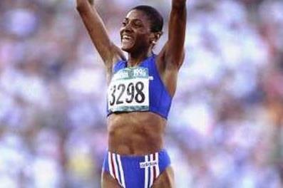 Marie-Jose Perec (FRA) at the Atlanta Olympics (Getty Images)