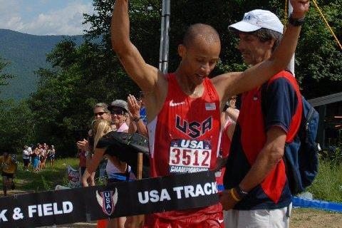 USA's Joe Gray wins the 2013 NACAC Mountain Running Championships (Nancy Hobbs)