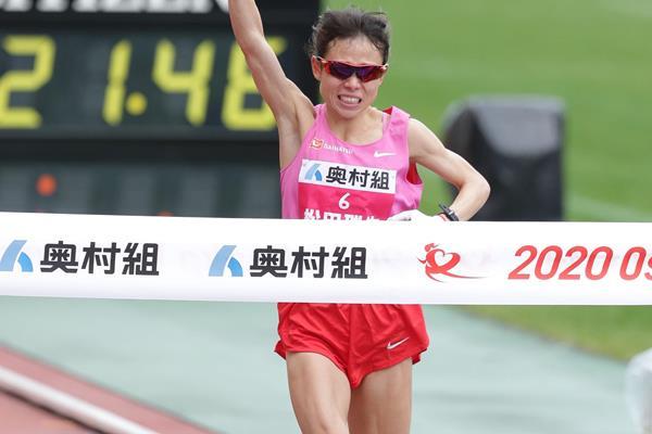 Mizuki Matsuda wins the Osaka Marathon (Agence SHOT)
