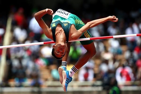High jump winner Breyton Poole at the IAAF World U18 Championships Nairobi 2017 (Getty Images)