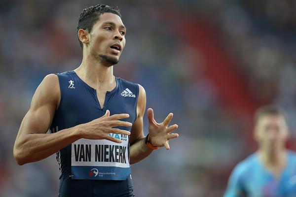 Wayde van Niekerk wins the 300m at the Golden Spike meeting in Ostrava (AFP / Getty Images)