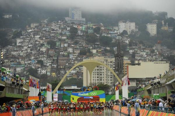 The start of the men's marathon at the Rio 2016 Olympic Games (Getty Images)