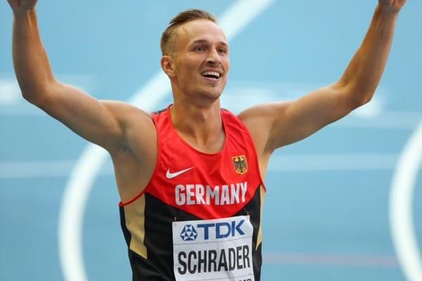 Michael Schrader in the men's Decathlon 400m at the IAAF World Athletics Championships Moscow 2013 (Getty Images)