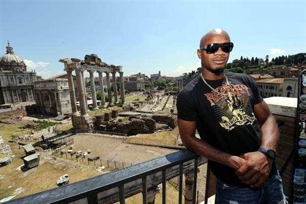 Asafa Powell at the Campidoglio, the Capitoline Hill, in Rome. (Rome Golden Gala)