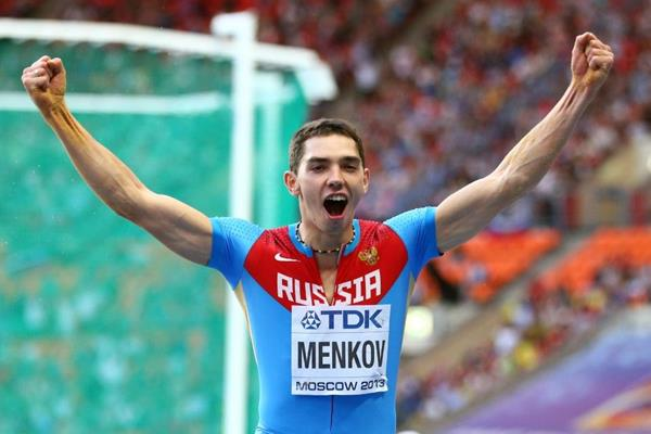 Aleksandr Menkov in the mens Long Jump final at the IAAF World Athletics Championships Moscow 2013 (Getty Images)