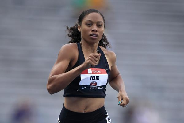 Allyson Felix in action at the 2019 US Championships (Getty Images)