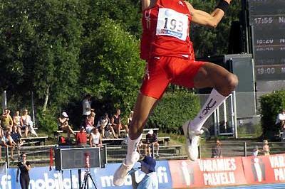Godfrey Khotso Mokoena leaps to 8.26m in Lappeenranta (Paula Noronen)