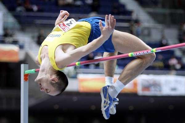 Stefan Holm in the High Jumping qualifying (Getty Images)