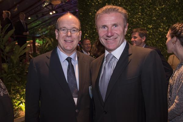 His Serene Highness Prince Albert II of Monaco and IAAF Senior Vice President Sergey Bubka (Getty Images)